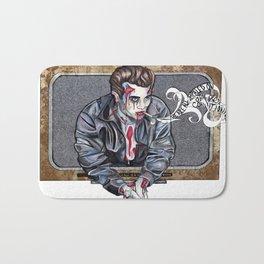 Zombie James Dean Bath Mat
