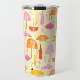 Pretty Parasols for Precipitation Travel Mug
