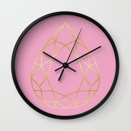 Golden diamond I Wall Clock