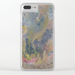 Day at the Beach Marble Clear iPhone Case