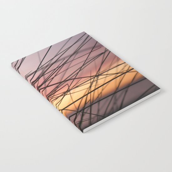 Grasses in the rainbow light of sunset Notebook