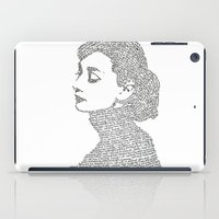 hepburn iPad Cases featuring Audrey Hepburn by S. L. Fina