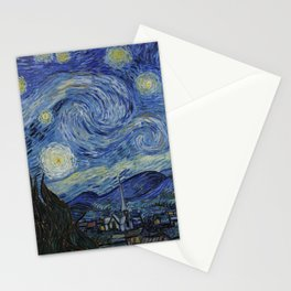 THE STARRY NIGHT - VAN GOGH Stationery Cards