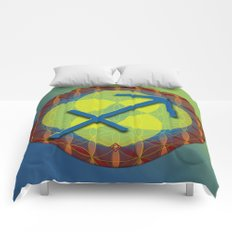 Flower of Life SAGITTARIUS Astrology Design Comforters