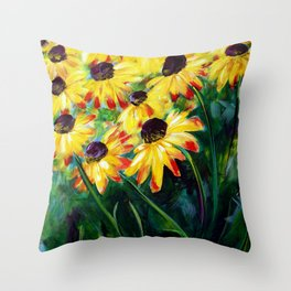Black Eyed Suzannes Throw Pillow