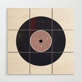 Vinyl Record Zodiac Sign Capricorn Wood Wall Art