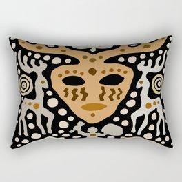 Viking Shaman Hunting Ritual Rectangular Pillow