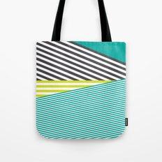 Neon Lines Tote Bag