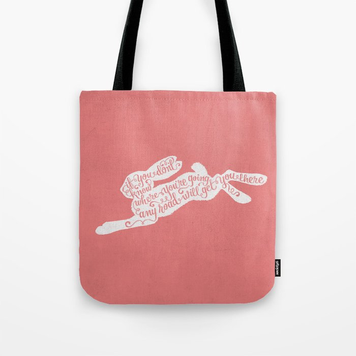 Alice in wonderland - pink Tote Bag