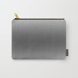 White to Black Horizontal Bilinear Gradient Carry-All Pouch