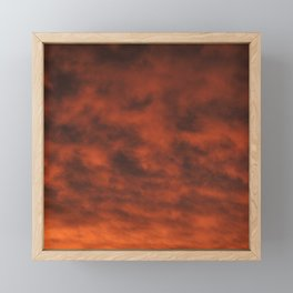 Dramatic and Fiery Orange Sunset Clouds Framed Mini Art Print