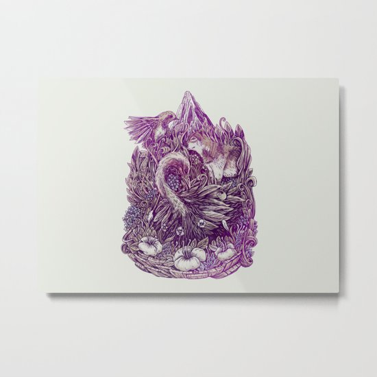 Peaceful Jungle Metal Print