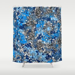 If Blue Went Supernova Shower Curtain