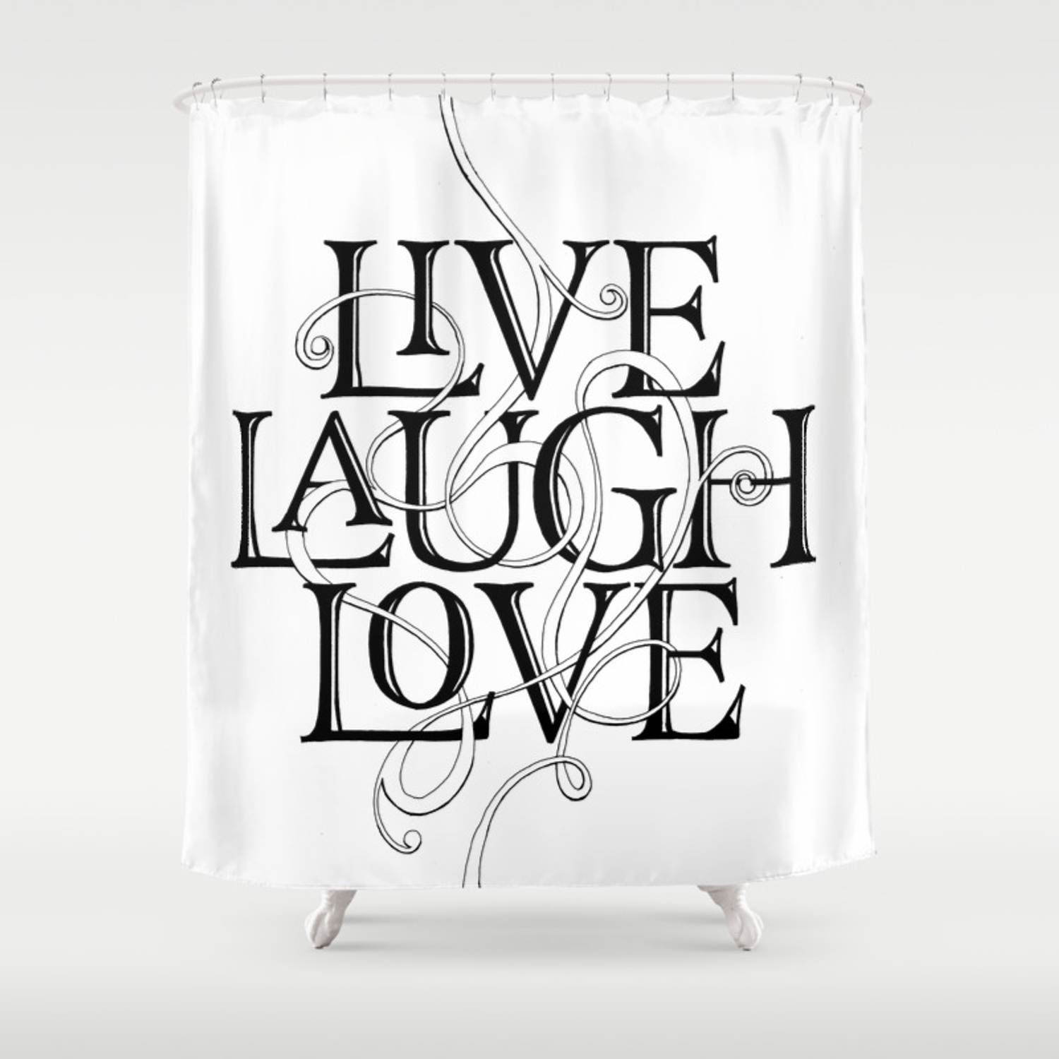 Live Laugh Love Shower Curtain By Krishnakastubi Society6