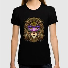 Mardi Gras | Pride Lion With Cute Mask T-shirt