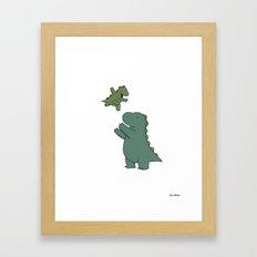 Rory & Dad Framed Art Print