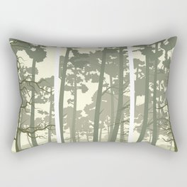 portrait deer forest Rectangular Pillow
