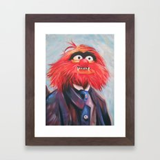Portrait Of An Animal Framed Art Print