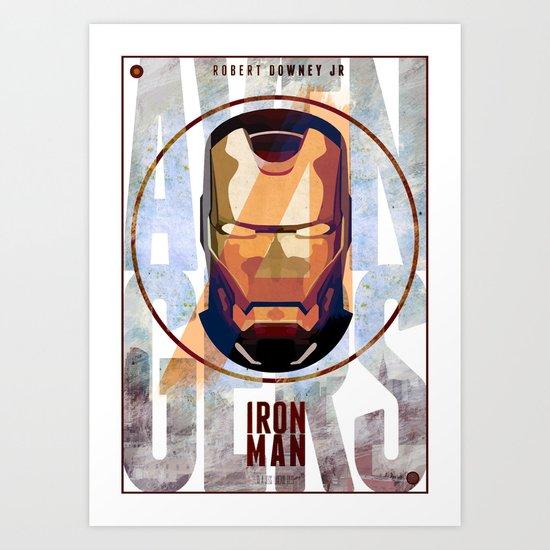 Avengers : IRON MAN print  Art Print
