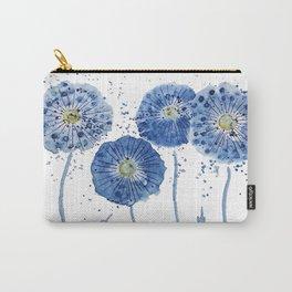 four blue dandelions watercolor Carry-All Pouch