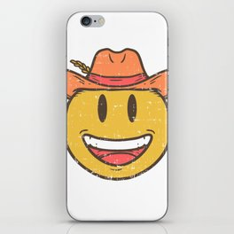 Cowboy Rancher cattleman  Smiley Gift iPhone Skin