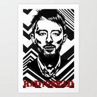 radiohead Art Prints featuring RadioHead by Pan Trinity Das