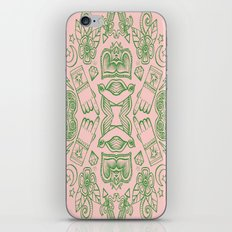 Modern Icons - Tattoo - Day of the Dead - Pink and Green iPhone & iPod Skin