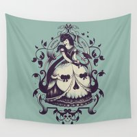 death Wall Tapestries featuring Mrs. Death by Enkel Dika