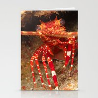 lobster Stationery Cards featuring Lobster by Lisa Johnson Cohen