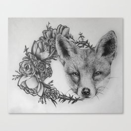A fox in wild Canvas Print