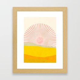 pink hope Framed Art Print