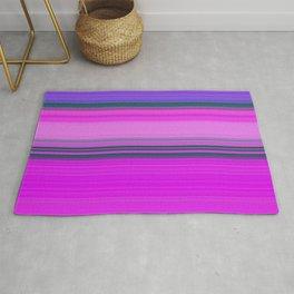 pink and violet horizontal lines Rug