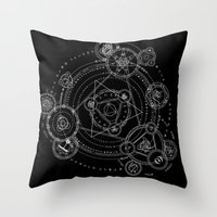 games Throw Pillows featuring Games by qabot