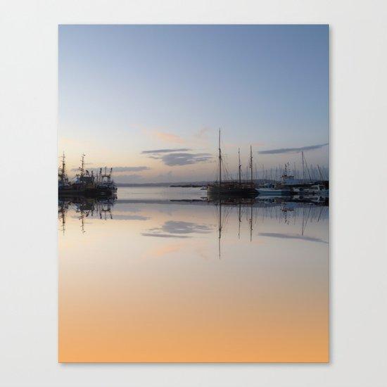 Brixham reflected Canvas Print