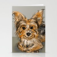 yorkie Stationery Cards featuring Yorkie by Sam Bock