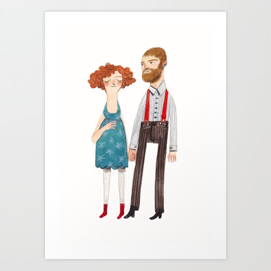 poppy and jackson Art Print