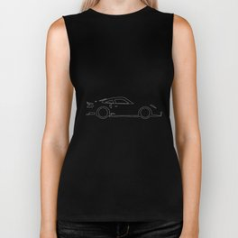 Fast Car Outline Biker Tank