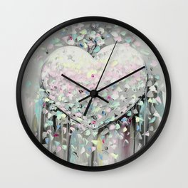 Abstract Heart Drips and Blobs Love Wall Clock