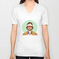 tenenbaum V-neck T-shirts featuring Richie Tenenbaum by Galaxyspeaking