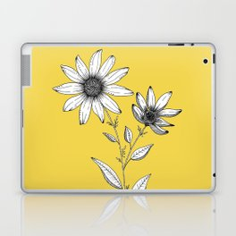 Wildflower line drawing | Botanical Art Laptop & iPad Skin