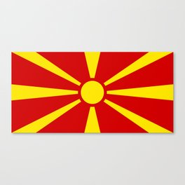 Macedonian national flag Canvas Print