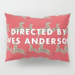 Directed By Wes Anderson - Zebra Wallpaper Pillow Sham