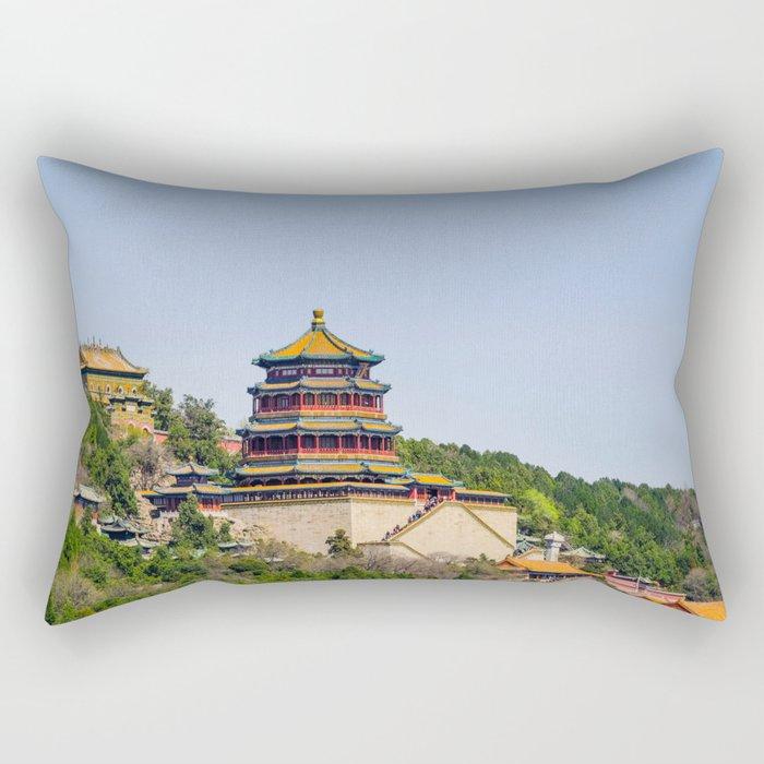 Tower of Buddhist Incense Rectangular Pillow