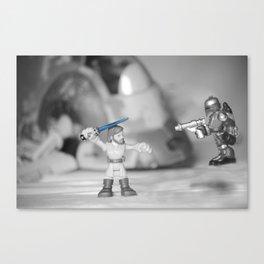 Obi-wan Kenobi & Jango Fett with the Slave 1 Canvas Print