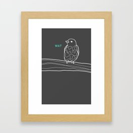 wat. Framed Art Print