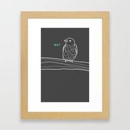 wat. Framed Art Print