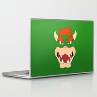 mario bros Laptop & iPad Skins featuring Bowser Super Mario Bros. by JAGraphic