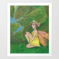 Leaves That Glitter Art Print