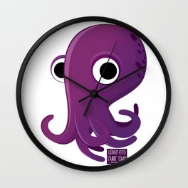 Googly-Eyed Stubby Squid Wall Clock