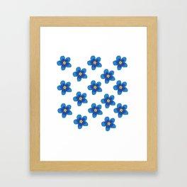 Blue Blossoms Framed Art Print